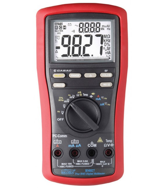 Brymen BM827 10,000 Count Dual Display TRMS, Min/Max, Crest & Hold Digital Multimeter