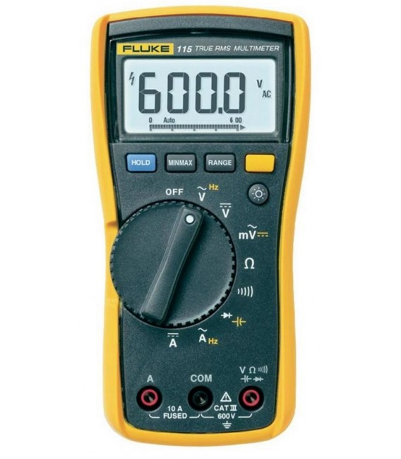 Fluke 115 6000 Count Field Service Technician Multimeter, TRMS