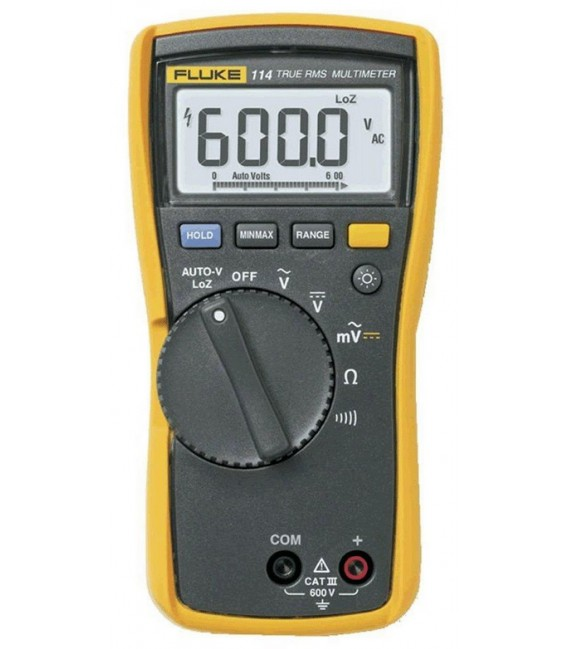 Fluke 114 6000 Count Electrician's Multimeter, TRMS