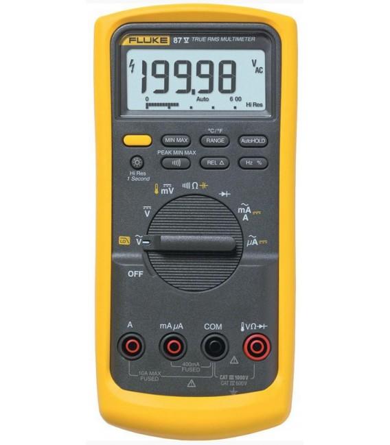 Fluke 87-V 6000 Count, (19,900 High Res) Industrial Multimeter, TRMS