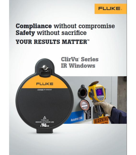 Fluke CV401 ClirVu® 95 mm (4 in) Infrared Window, Security Key Latch