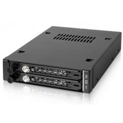 "Icy Dock MB492SKL-B ToughArmor EX Industrial 2 x 2.5"" SATA/SAS HDD & SSD Mobile Rack"