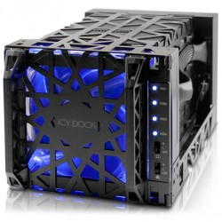 Icy Dock MB174U3S-4SB Black Vortex 4 Bay USB 3.0 & eSATA HDD Enclosure