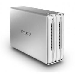 """Icy Dock MB662U3-2S R1 ICYRaid Dual 3.5"""" SATA III HDD USB 3.0 External RAID Enclosure"""