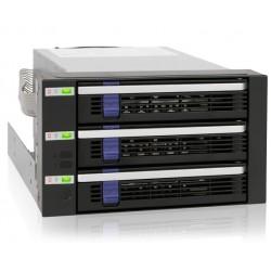 "Icy Dock MB153SP-B FatCage 3 Bay EZ-Tray 3.5"" SATA HDD Hot-Swap Cage"