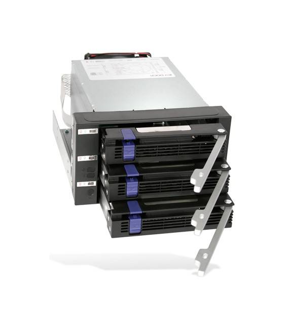 "Icy Dock MB153SP-B FatCage 3 Bay EZ-Tray 3.5"" SATA HDD Hot-Swap Cage"